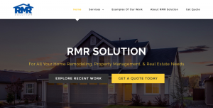 RMR Solution homepage screenshot