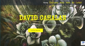 David Cahalan homepage screenshot