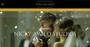 Nicky Avalo Studios homepage screenshot